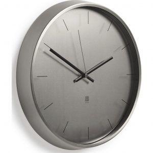 """UMBRA Часовник за стена """"META"""" - цвят никел"""