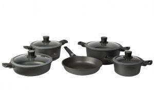 SKK Комплект индукционни съдове за готвене - 9 части