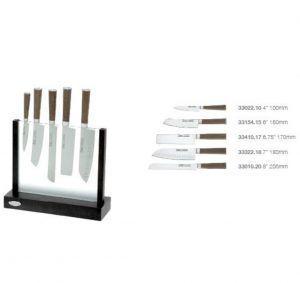 """IVO Cutelarias Комплект ножове със стойка """"CORK"""" – 5 части"""