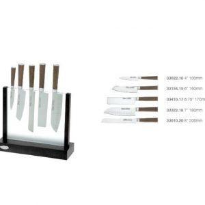 IVO Cutelarias Комплект ножове със стойка – 5 части