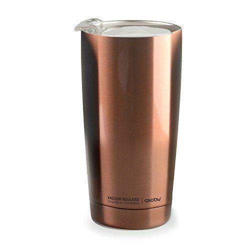 """ASOBU Двустенна термо чаша с вакуумна изолация """"GLADIATOR"""" - 600 мл - цвят мед"""