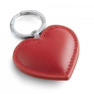 """PHILIPPI Кожен ключодържател сърце """"CORA"""" - червен"""