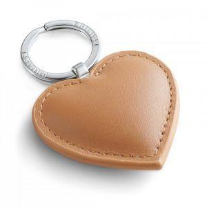 """PHILIPPI Кожен ключодържател сърце""""CORA"""" - кафяв"""