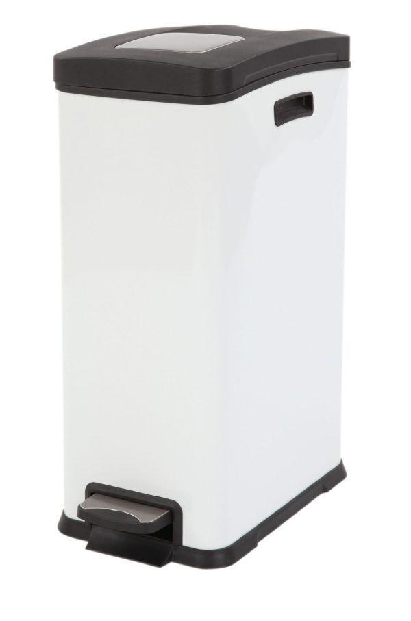 """EKO Кош за събиране на отпадъци с педал """"REJOICE"""" - 30 литра - бял"""