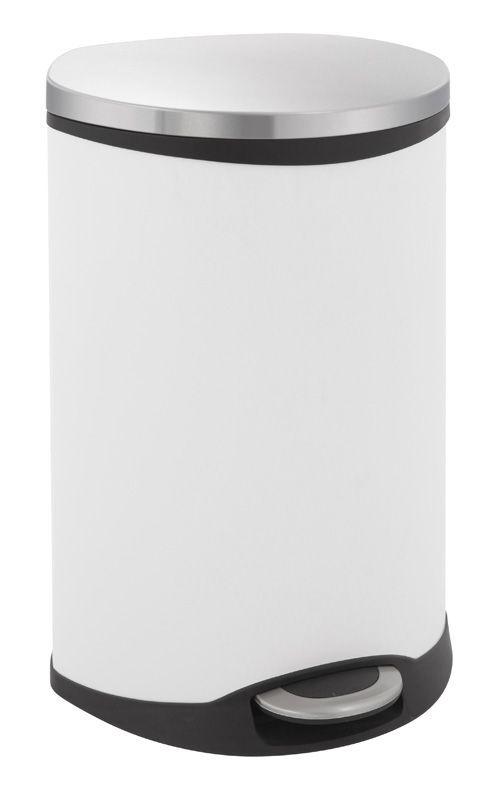 """EKO Кош за отпадъци с педал """"SHELL"""" - 50 литра - бял"""