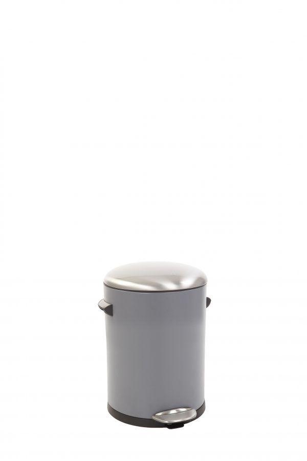 "EKO Кош за отпадъци с педал  ""BELLE DELUXE""- 3 литра - сив"