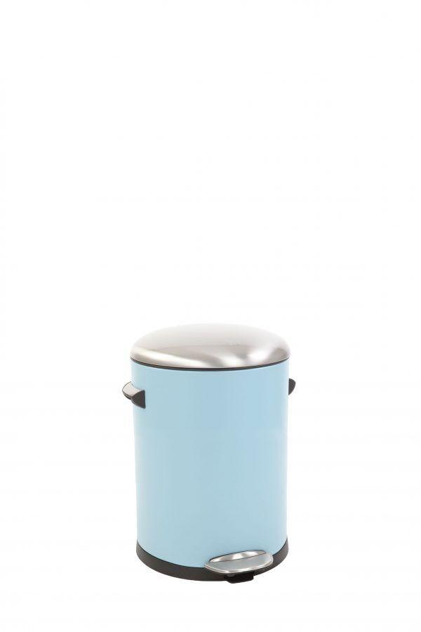 "EKO Кош за отпадъци с педал  ""BELLE DELUXE""- 5 литра - светло син"