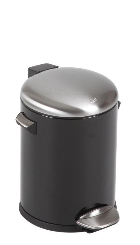 "EKO Кош за отпадъци с педал  ""BELLE DELUXE""- 5 литра - черен"