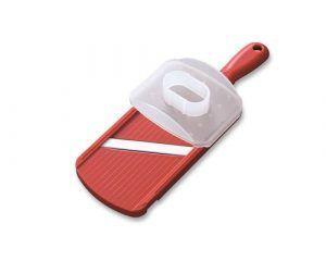 KYOCERA Жулиен ренде с керамично острие - 8 см. -  цвят червен