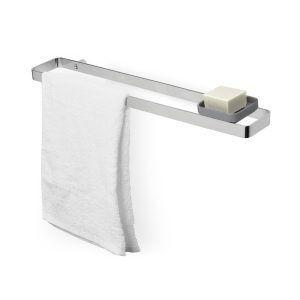 """UMBRA Стенна закачалка за кърпи и поставка за аксесоари """"SCILLAE"""" - цвят хром"""