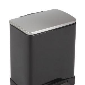 """EKO Кош за разделно събиране на отпадъци с педал """"E-CUBE"""" - (10 + 9) литра - черен"""