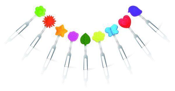 Vin Bouquet Сет маркери за снакс и сандвичи - 9 цветни фигурки