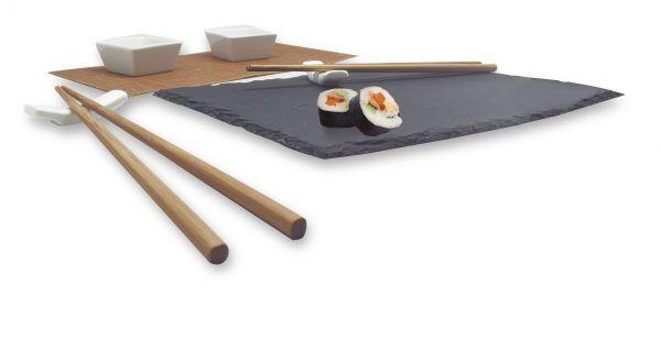 Nerthus Сет за суши с каменна плоча