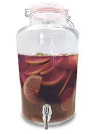 Vin Bouquet Стъклен буркан / диспенсър за течности 8л с кранче