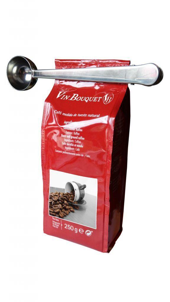Nerthus Мерителна лъжичка за кафе и чай с щипка - 2 в 1