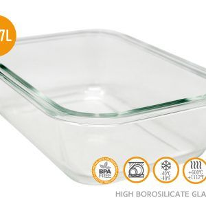 Vin Bouquet/Nerthus Стъклена кутия за храна с херметическо затваряне - 370 мл.