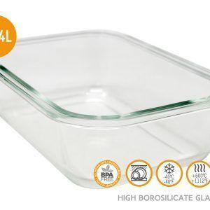Vin Bouquet/Nerthus Стъклена кутия за храна с херметическо затваряне - 640 мл.