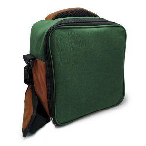Vin Bouquet/Nerthus Термоизолираща чанта за храна с 2 джоба - зелен цвят