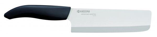 KYOCERA Керамичен сатър - бяло острие/черна дръжка - 15 см.