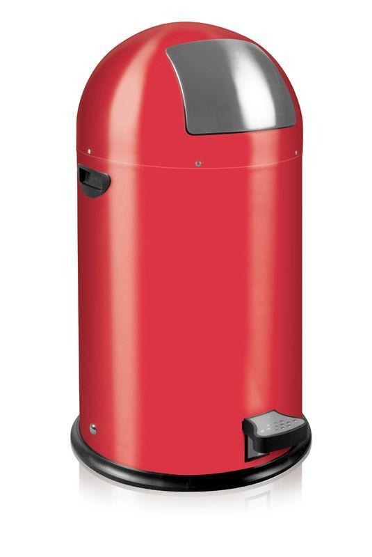 """EKO Кош за отпадъци с педал """"KICK CAN"""" - 33 литра - червен"""