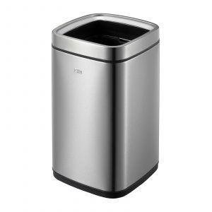 """EKO Квадратен отворен кош за отпадъци """"LAGUNA"""" - 12 литра - мат"""