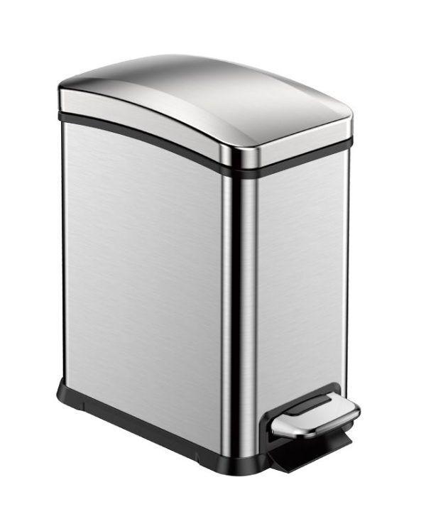 """EKO Кош за събиране на отпадъци с педал """"NEW REJOICE"""" - 8 литра - мат"""