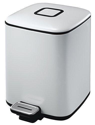"""EKO Кош за отпадъци с педал """"REGENT"""" - 6 литра - бял"""