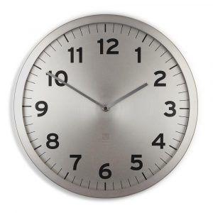 """UMBRA Часовник за стена """"ANYTIME"""" - цвят никел"""