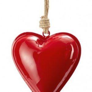 """PHILIPPI Сувенир сърце """"HAMBURGER"""" - S размер - цвят тъмно червен"""
