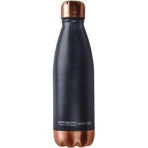 """ASOBU Двустенна термо бутилка с вакуумна изолация """"CENTRAL PARK"""" - 500 мл - цвят черен/мед"""