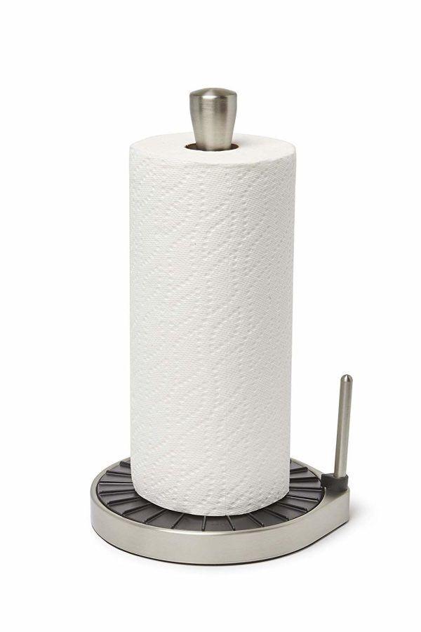 """UMBRA Стойка за кухненска хартия """"Spin Click N Tear"""" - цвят черен/никел"""