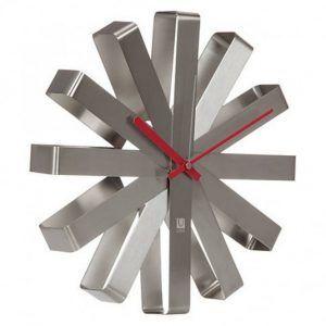 """UMBRA Часовник за стена """"RIBBON"""" - цвят инокс"""