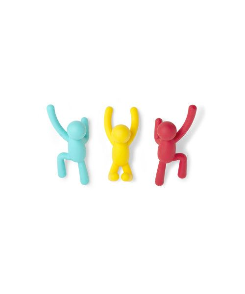 """UMBRA Комплект от 3 бр закачалки за стена """"BUDDY"""" - 3 цвята"""