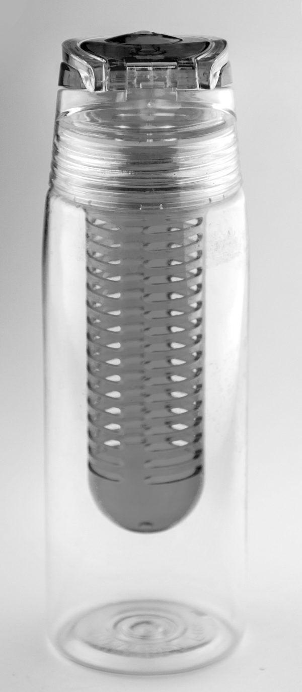 """ASOBU Бутилка за течности с инфузер за плодове """"FLAVOUR IT 2 GO"""" - 600 мл - цвят графит"""