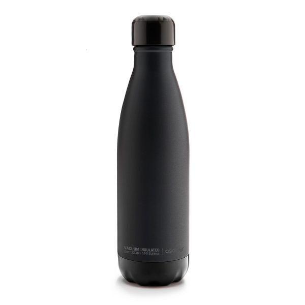 """ASOBU Двустенна термо бутилка с вакуумна изолация """"CENTRAL PARK"""" - 500 мл - черна"""