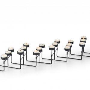 PHILIPPI Свещник за 22 чаени свещи LAB - разтегателен