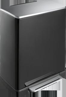 """EKO Кош за отпадъци с педал """"E-CUBE"""" - 50 литра - черен"""