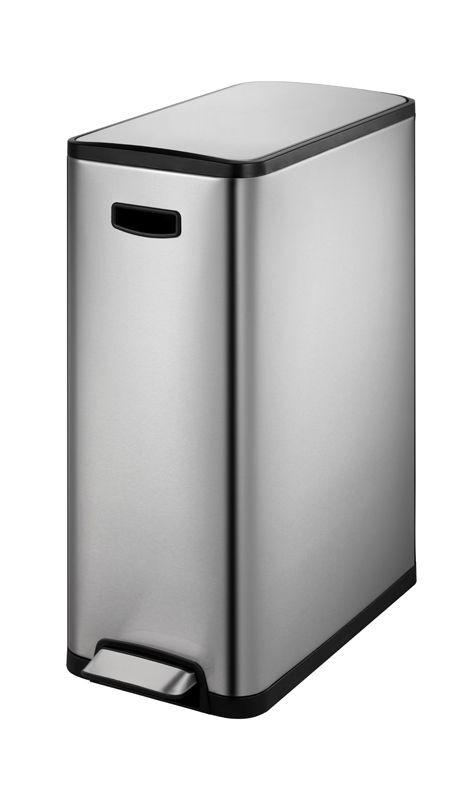 """EKO Кош за разделно събиране на отпадъци с педал """"ECOSLIM"""" - 2 х 20 литра - мат"""
