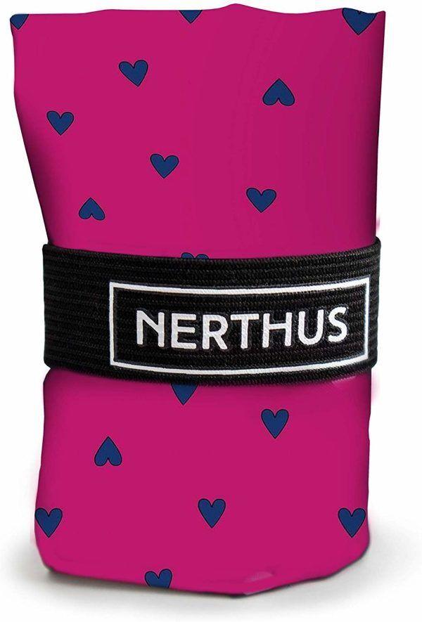 """Nerthus Чанта за пазаруване """"Сърчица"""" - розова"""