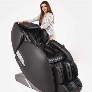"""CASADA Масажен стол """"ALPHASONIC II"""" с антистрес система Braintronics®  - цвят сиво/черно"""