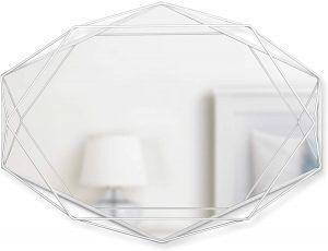 "UMBRA Огледало за стена ""PRISMA"" - цвят бял"