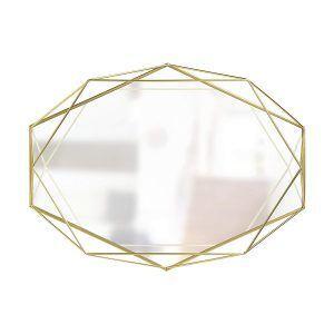 """UMBRA Огледало за стена """"PRISMA"""" - цвят месинг"""