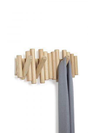 """UMBRA Закачалка за стена """"PICKET """" - цвят натурално дърво"""