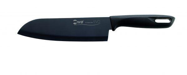 "IVO Cutelarias Нож сантоку ""TITANIUM EVO"" – 18см – черна дръжка"