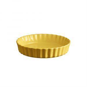 """EMILE HENRY Керамична дълбока форма за тарт """"DEEP FLAN DISH"""" - Ø 24 см - цвят жълт"""