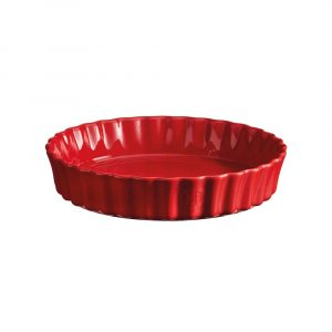 """EMILE HENRY Керамична дълбока форма за тарт """"DEEP FLAN DISH"""" - Ø 28 см - цвят червен"""