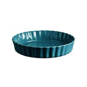"""EMILE HENRY Керамична дълбока форма за тарт """"DEEP FLAN DISH"""" - Ø 28 см - цвят син"""