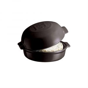 """EMILE HENRY Керамична форма за печене с капак """"CHEESE BAKER"""" - Ø 19 см - цвят черен"""